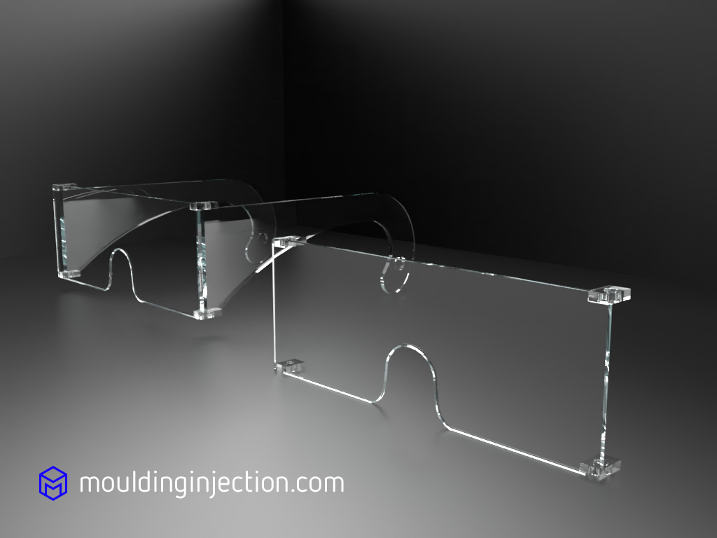 Injection moulds for the injection of Polycarbonate goggles