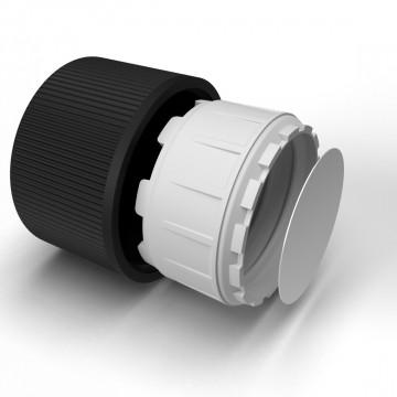 20 mm child-resistant cap, black