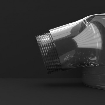3D mock-up of polycarbonate injected product